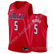 Canotte Basket Bambino Washington Wizards 2019-20 Markieff Morris 5# Rosso Earned Edition Swingman..