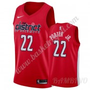 Canotte Basket Bambino Washington Wizards 2019-20 Otto Porter Jr. 22# Rosso Earned Edition Swingman..