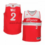 Magliette Basket Washington Wizards Uomo 2015 John Wall 2# NBA Natale Swingman..