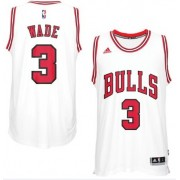 Maglie NBA Dwyane Wade 3# Home 2017-18 Canotte Chicago Bulls..