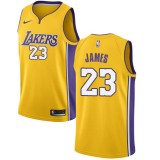 Maglie NBA Los Angeles Lakers 2018 Canotte LeBron James 23# Icon Edition