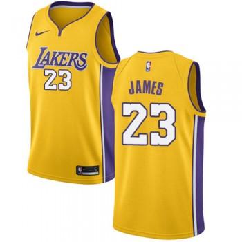 Canotte Basket Bambino Los Angeles Lakers 2018 LeBron James 23# Icon Edition