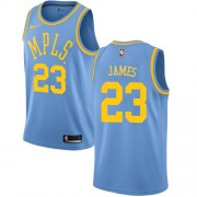 Maglie NBA Los Angeles Lakers 2018 Canotte LeBron James 23# Light Blue Hardwood Classics..