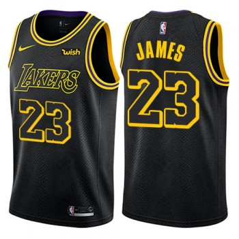 Canotte Basket Bambino Los Angeles Lakers 2018 LeBron James 23# City Edition