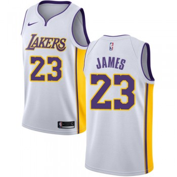 Maglie NBA Los Angeles Lakers 2018 Canotte LeBron James 23# Association Edition