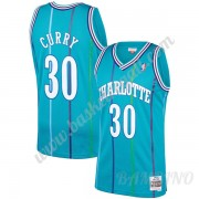 Canotte Basket Bambino Charlotte Hornets 1992-93 Dell Curry 30# Teal Hardwood Classics Swingman..