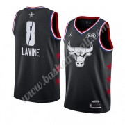 Maglie Basket NBA Chicago Bulls 2019 Zach Lavine 8# Nero All Star Game Canotte Swingman..