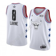 Maglie Basket NBA Chicago Bulls 2019 Zach Lavine 8# Bianca All Star Game Canotte Swingman..