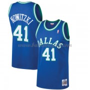 Maglie NBA Dallas Mavericks Mens 1998-99 Dirk Nowitzki 41# Blue Hardwood Classics..