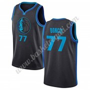 Maglie NBA Dallas Mavericks 2019-20 Luka Doncic 77# City Edition Canotte Swingman..