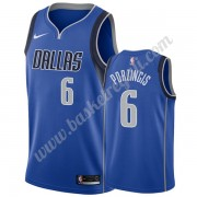 Maglie NBA Dallas Mavericks 2019-20 Kristaps Porzingis 6# Blu Icon Edition Canotte Swingman..