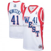 Divise Basket Dallas Mavericks s Dirk Nowitzki 41# Bianca 2004 All Star Hardwood Classics Swingman..