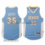 Canotte Basket Bambino Kenneth Faried 35# Road 2015-16 Maglia Denver Nuggets..