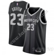Canotte Basket Bambino Detroit Pistons 2019-20 Blake Griffin 23# Nero City Edition Swingman..