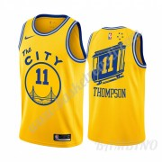 Canotte Basket Bambino Golden State Warriors 2019-20 Klay Thompson 11# Giallo Classics Edition Swing..