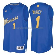 Magliette Basket Golden State Warriors 2016 Javale Mcgee 1# NBA Natale Swingman..