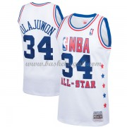 Divise Basket Houston Rockets s Hakeem Olajuwon 34# Bianca 1989 All Star Hardwood Classics Swingman..