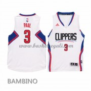Canotte Basket Bambino Chris Paul 3# Home 2015-16 Maglia Los Angeles Clippers..
