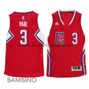 Canotte Basket Bambino Chris Paul 3# Road 2015-16 Maglia Los Angeles Clippers..
