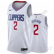 Canotte Basket Bambino Los Angeles Clippers 2019-20 Kawhi Leonard 2# Bianca Association Edition Swin..