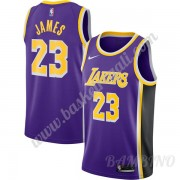 Canotte Basket Bambino Los Angeles Lakers 2019-20 LeBron James 23# Viola Replica Statement Edition S..