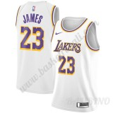 Canotte Basket Bambino Los Angeles Lakers 2019-20 LeBron James 23# Bianca Association Edition Swingman