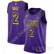 Canotte Basket Bambino Los Angeles Lakers 2019-20 Lonzo Ball 2# Viola City Edition Swingman..