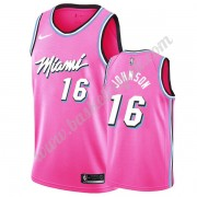 Maglie NBA Miami Heat 2019-20 James Johnson 16# Rosa Earned Edition Canotte Swingman..