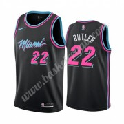 Maglie NBA Miami Heat 2019-20 Jimmy Butler 22# Nero City Edition Canotte Swingman..