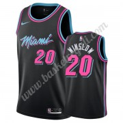 Maglie NBA Miami Heat 2019-20 Justise Winslow 20# Nero City Edition Canotte Swingman..