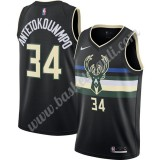 Maglie NBA Milwaukee Bucks 2019-20 Giannis Antetokounmpo 34# Nero Finished Statement Edition Canotte Swingman