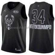 Divise Basket Milwaukee Bucks s Giannis Antetokounmpo 34# Nero 2018 All Star Game..