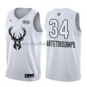 Divise Basket Milwaukee Bucks s Giannis Antetokounmpo 34# Bianca 2018 All Star Game..