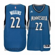 Canotte Basket Bambino Andrew Wiggins 22# Road 2015-16 Maglia Minnesota Timberwolves..