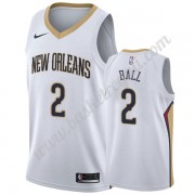Maglie NBA New Orleans Pelicans 2019-20 Lonzo Ball 2# Bianca Association Edition Canotte Swingman