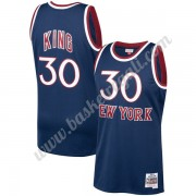 Maglie NBA New York Knicks 1982-83 Bernard King 30# Marina Militare Hardwood Classics Canotte Swingm..