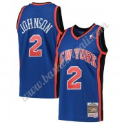 Maglie NBA New York Knicks 1998-99 Larry Johnson 2# Blu Hardwood Classics Canotte Swingman..