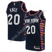 Maglie NBA New York Knicks 2019-20 Kevin Knox 20# Marina Militare City Edition Canotte Swingman..