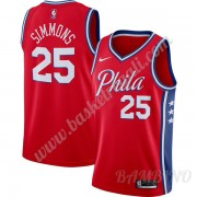 Canotte Basket Bambino Philadelphia 76ers 2019-20 Ben Simmons 25# Rosso Finished Statement Edition S..
