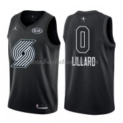 Divise Basket Portland Trail Blazers s Damian Lillard 0# Nero 2018 All Star Game..
