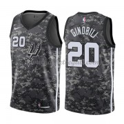 Maglie NBA San Antonio Spurs 2018 Canotte Manu Ginobili 20# City Edition..