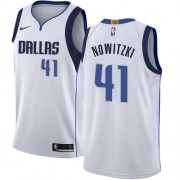 Canotte Basket Bambino Dallas Mavericks 2018 Dirk Nowitzki 41# Association Edition..